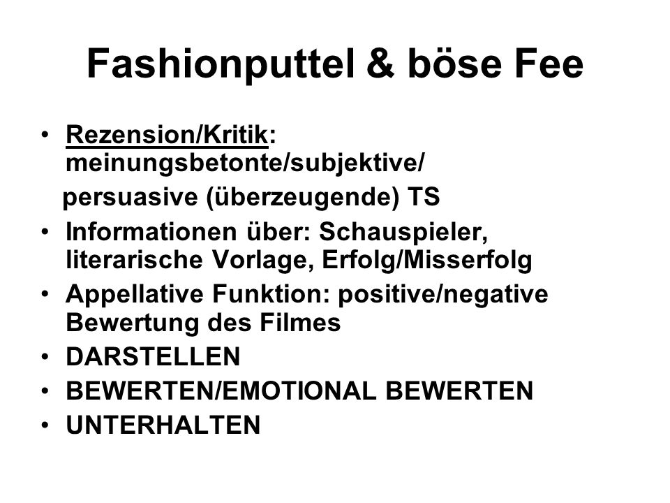 Fashionputtel & böse Fee