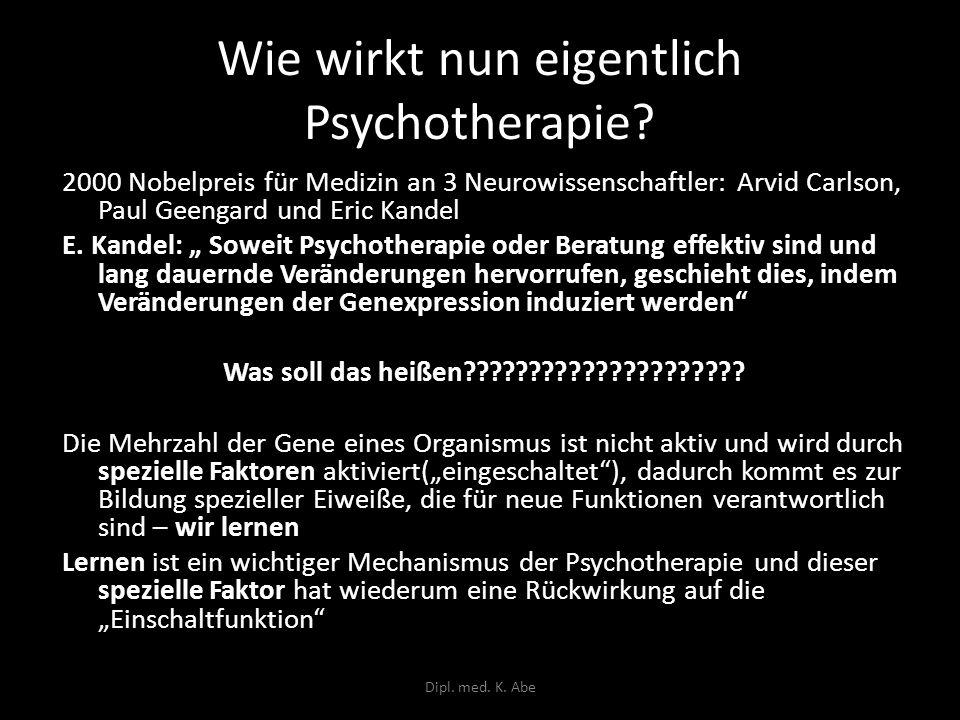 Wie wirkt nun eigentlich Psychotherapie