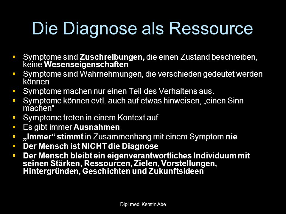Die Diagnose als Ressource