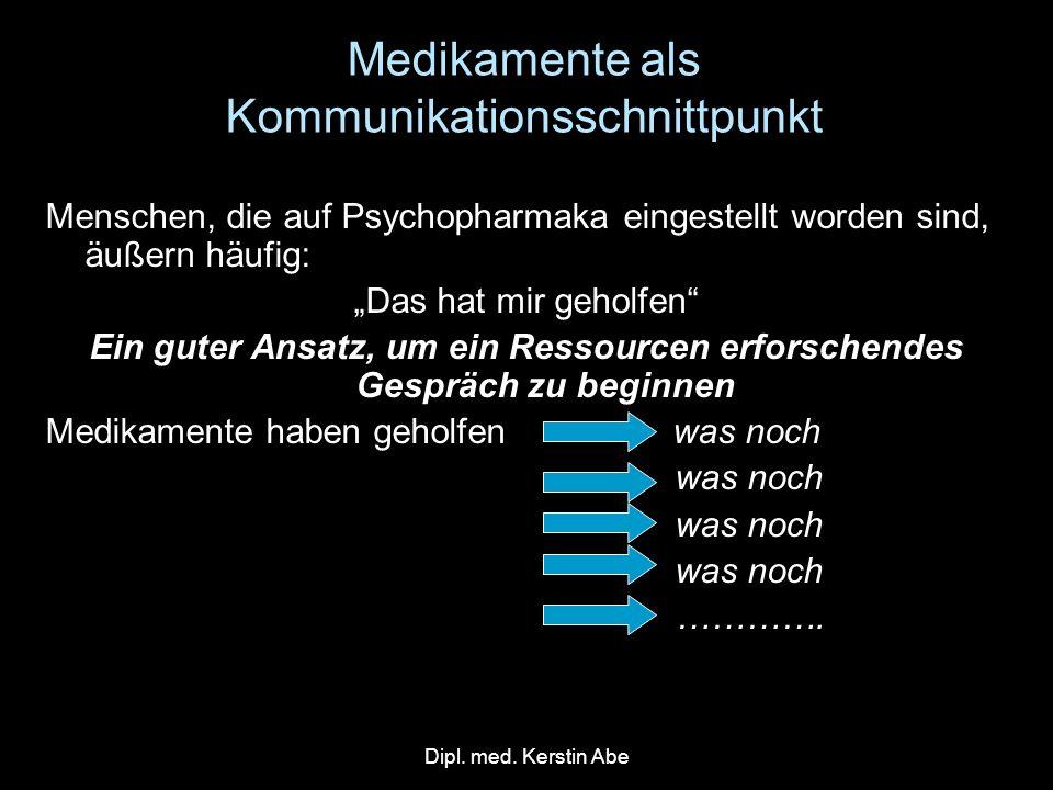 Medikamente als Kommunikationsschnittpunkt