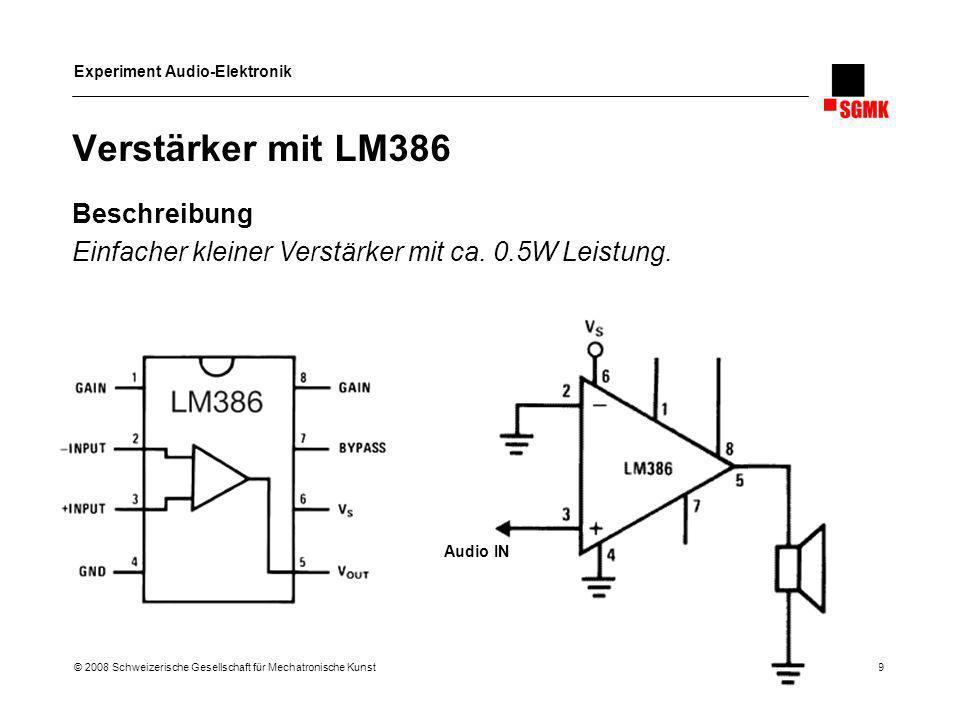 Verstärker mit LM386 Beschreibung