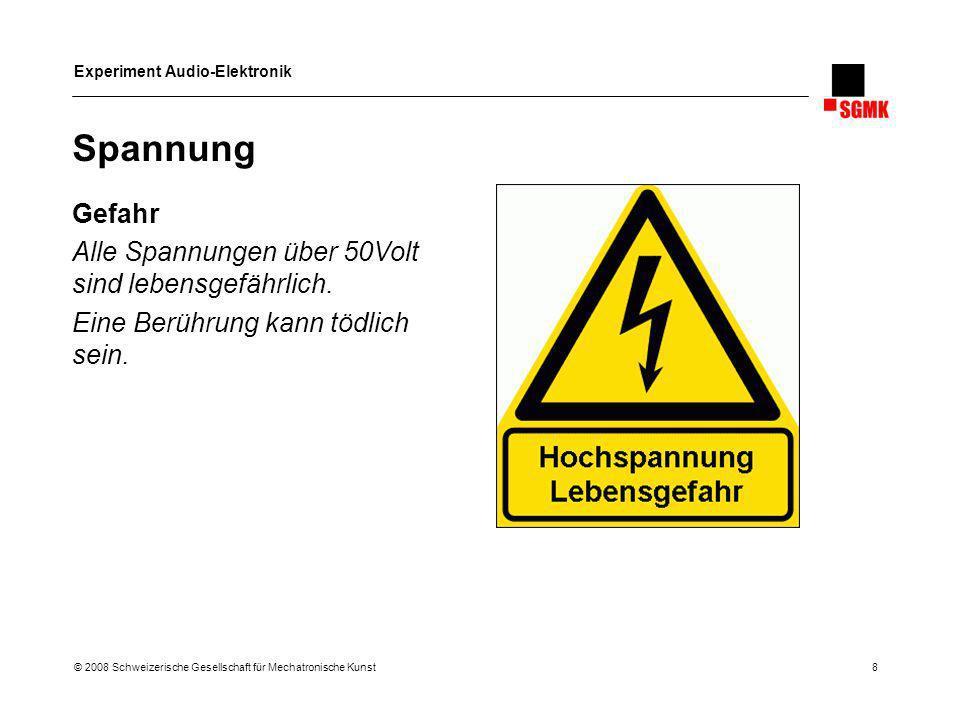 Spannung Gefahr Alle Spannungen über 50Volt sind lebensgefährlich.