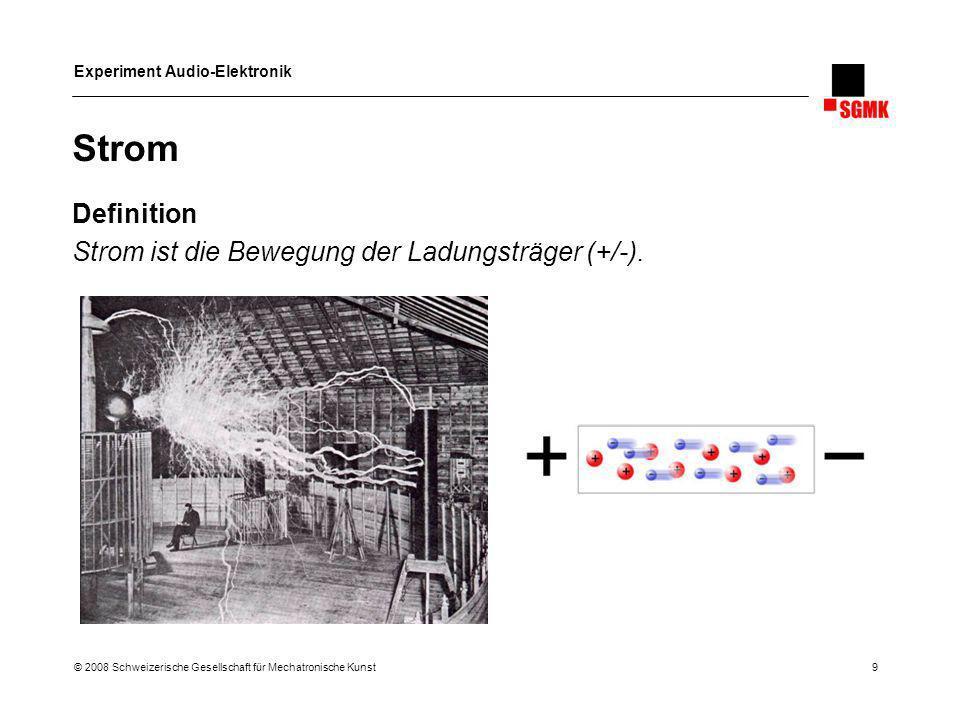 Strom Definition Strom ist die Bewegung der Ladungsträger (+/-).
