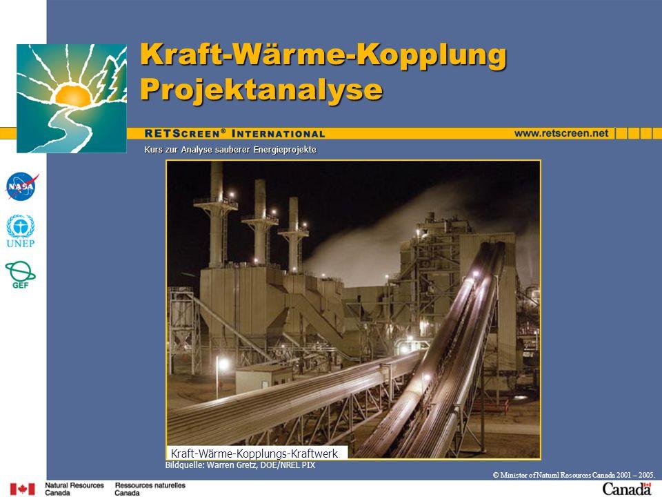 Kraft-Wärme-Kopplung Projektanalyse