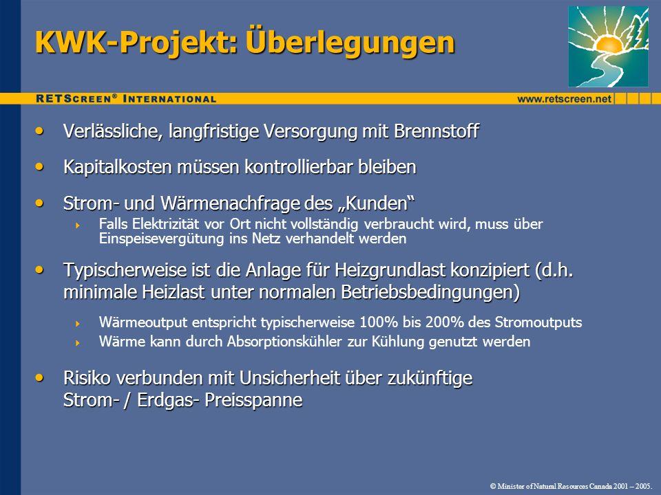 KWK-Projekt: Überlegungen