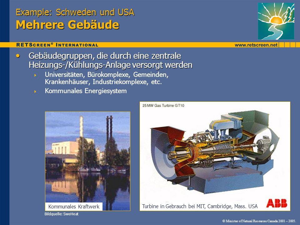 Example: Schweden und USA Mehrere Gebäude