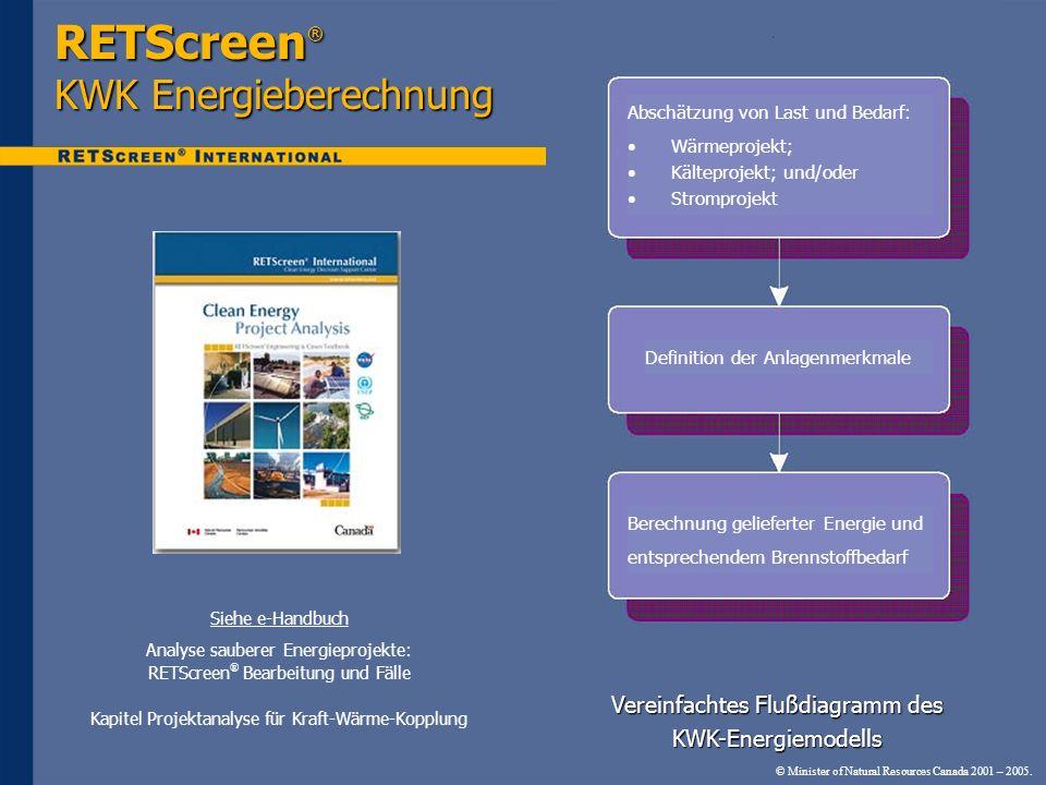 RETScreen® KWK Energieberechnung