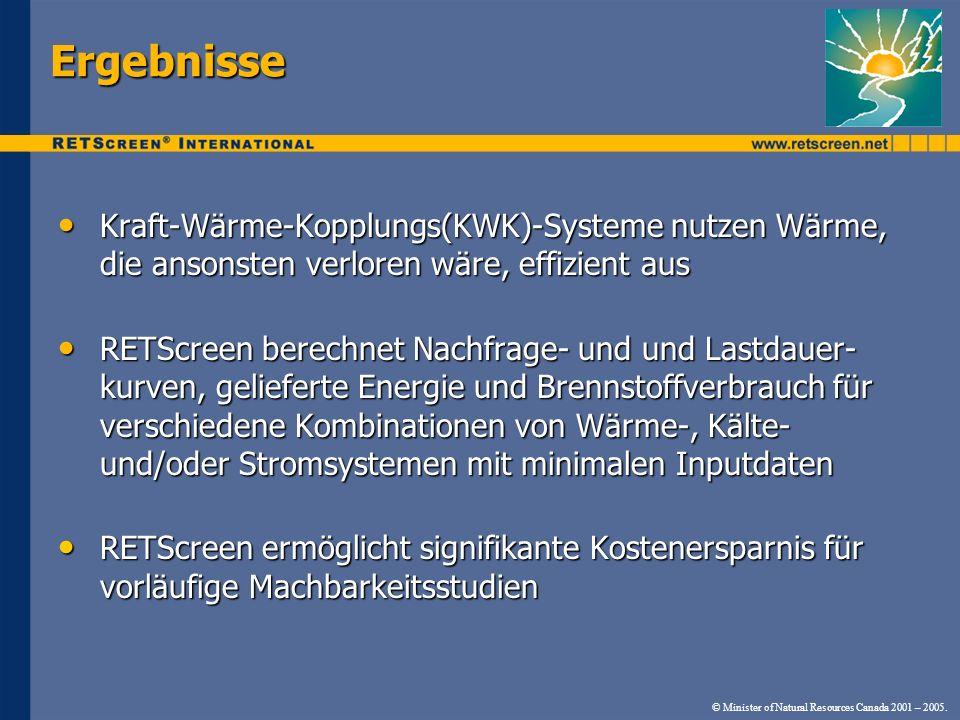 Ergebnisse Kraft-Wärme-Kopplungs(KWK)-Systeme nutzen Wärme, die ansonsten verloren wäre, effizient aus.