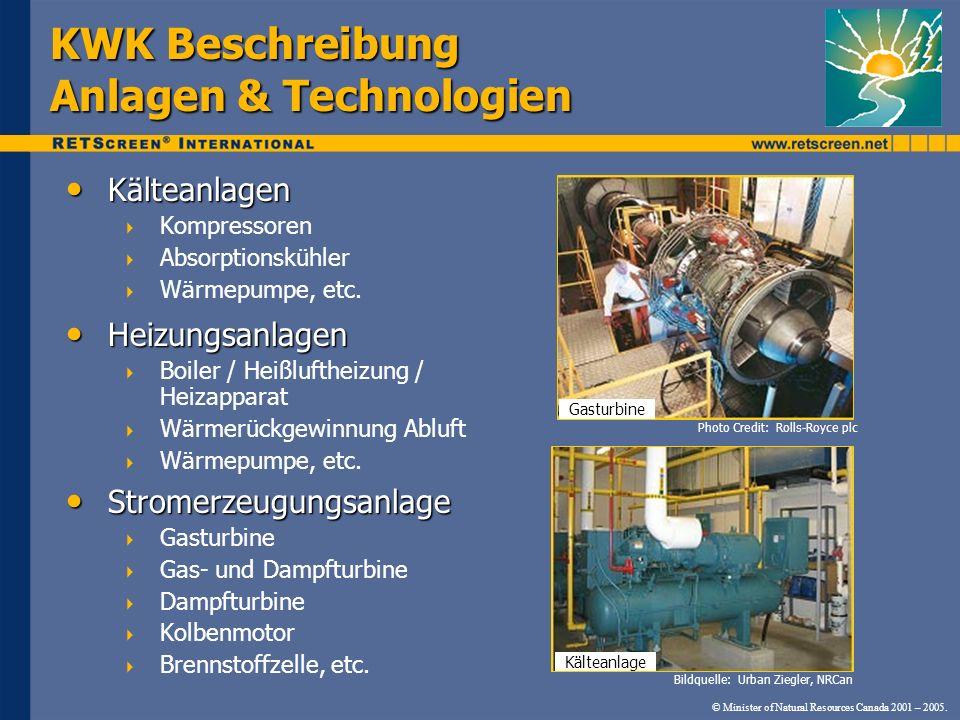 KWK Beschreibung Anlagen & Technologien