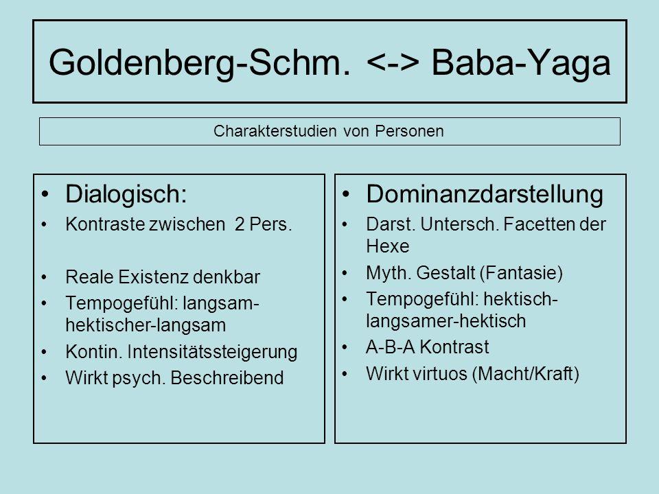 Goldenberg-Schm. <-> Baba-Yaga