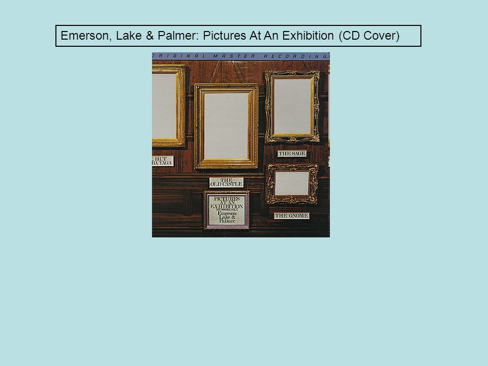 Emerson, Lake & Palmer: Pictures At An Exhibition (CD Cover)