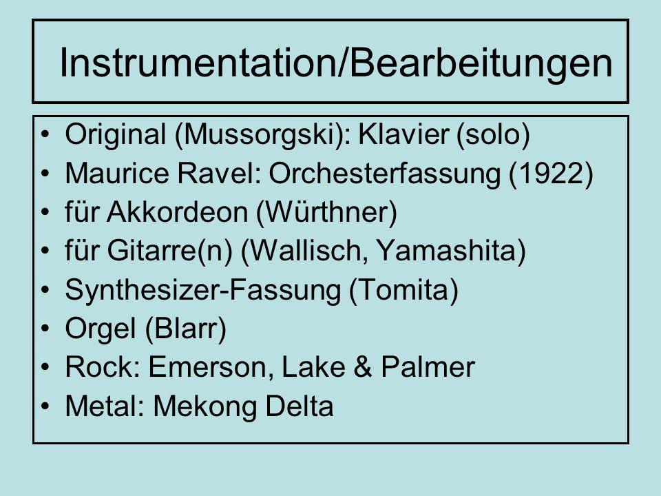 Instrumentation/Bearbeitungen