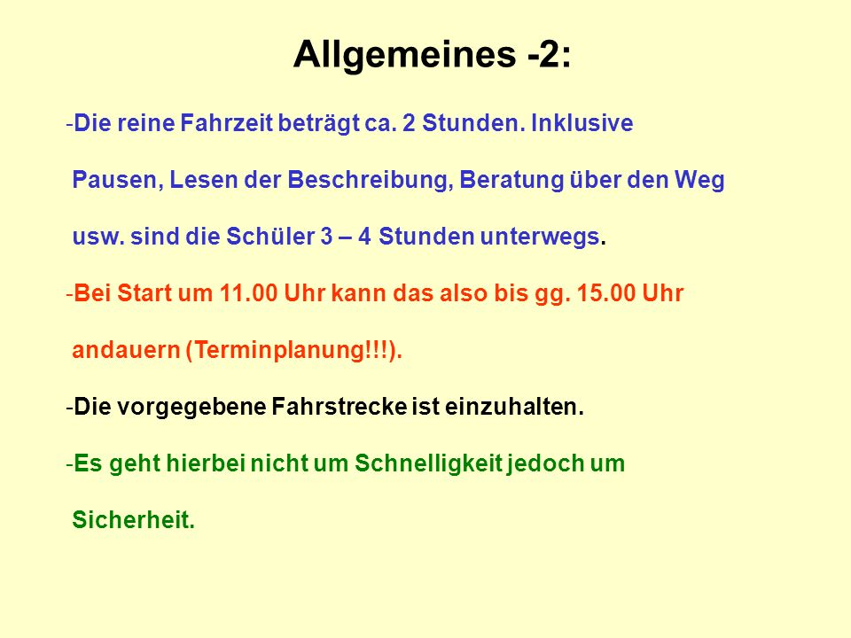 Allgemeines -2: