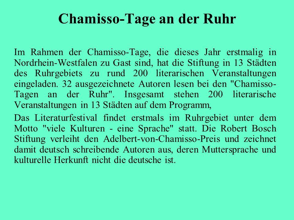 Chamisso-Tage an der Ruhr