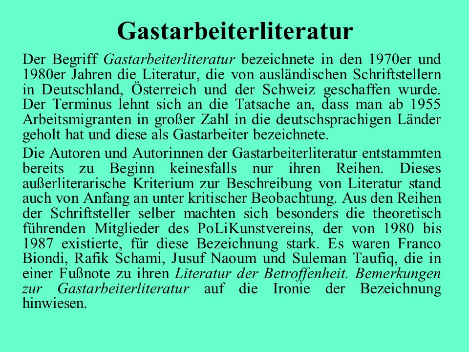 Gastarbeiterliteratur