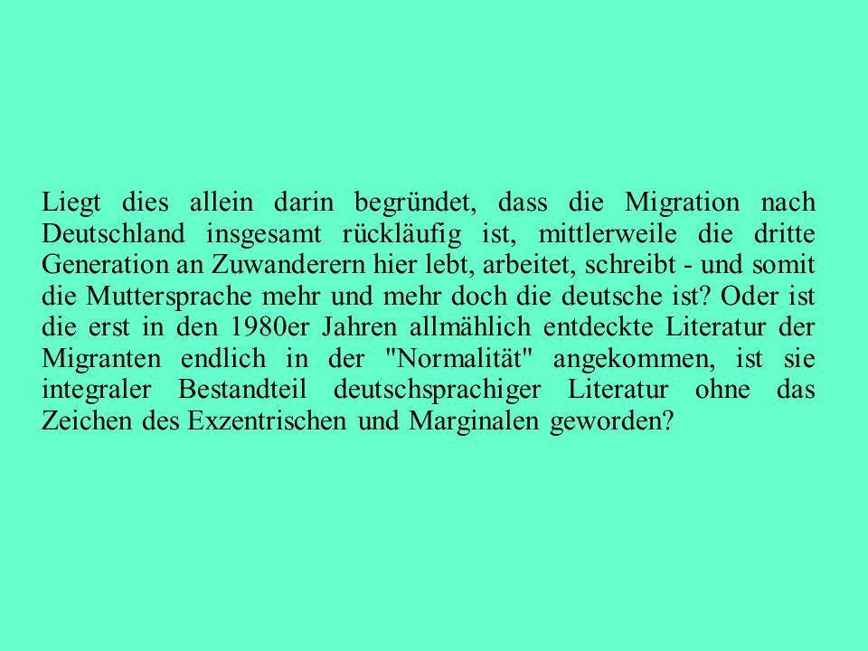 Liegt dies allein darin begründet, dass die Migration nach Deutschland insgesamt rückläufig ist, mittlerweile die dritte Generation an Zuwanderern hier lebt, arbeitet, schreibt - und somit die Muttersprache mehr und mehr doch die deutsche ist.