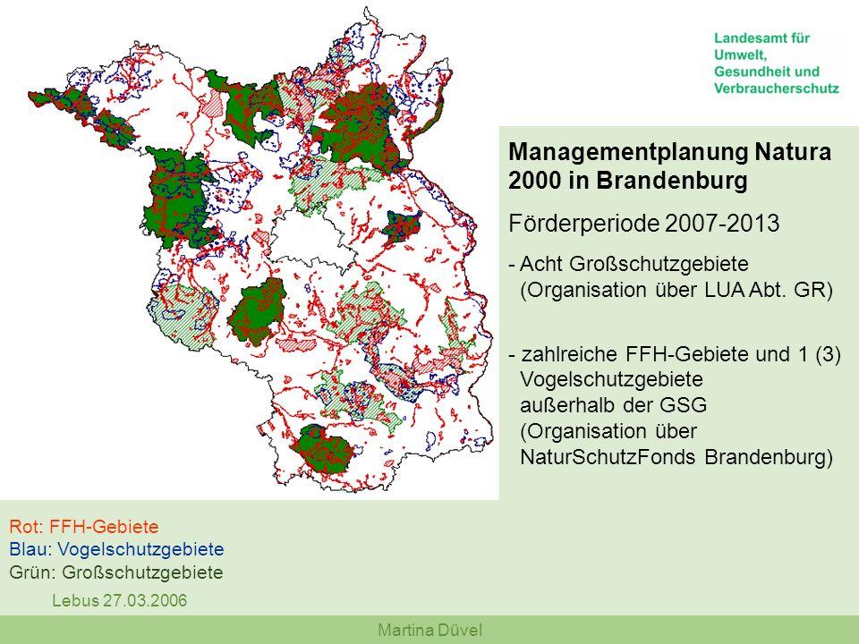 Managementplanung Natura 2000 in Brandenburg Förderperiode 2007-2013