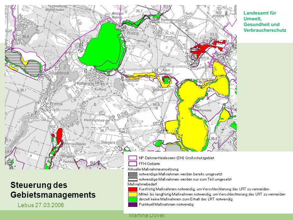 Steuerung des Gebietsmanagements Lebus 27.03.2006