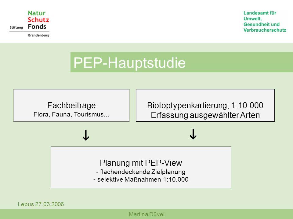 PEP-Hauptstudie i i Fachbeiträge Flora, Fauna, Tourismus...