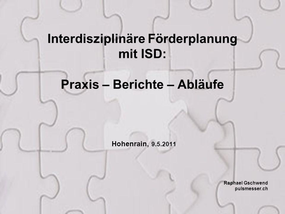 Interdisziplinäre Förderplanung Praxis – Berichte – Abläufe