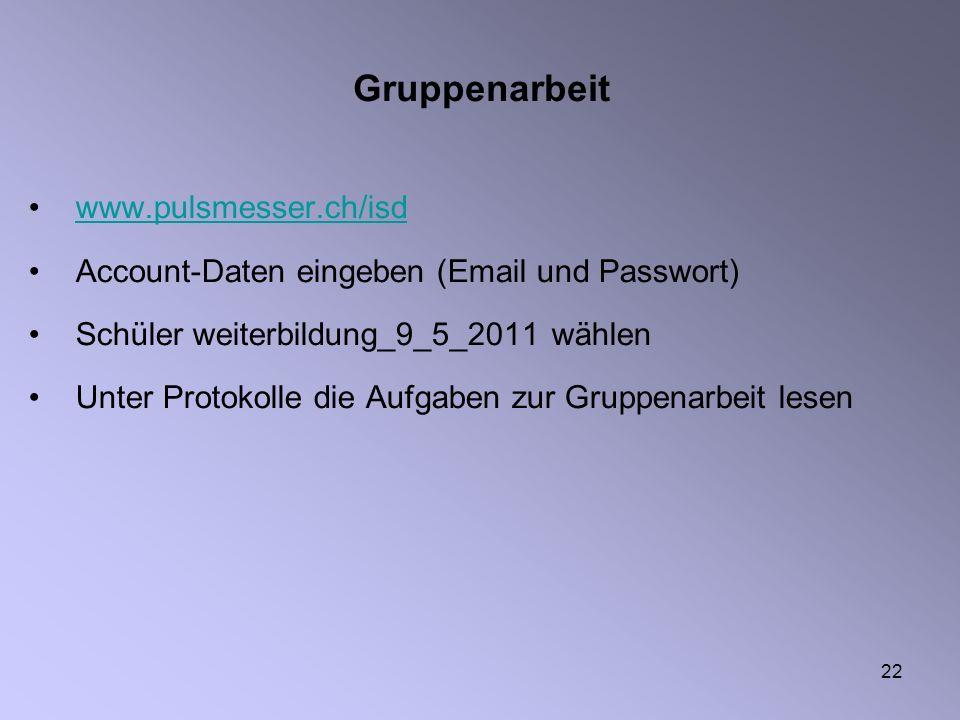 Gruppenarbeit www.pulsmesser.ch/isd