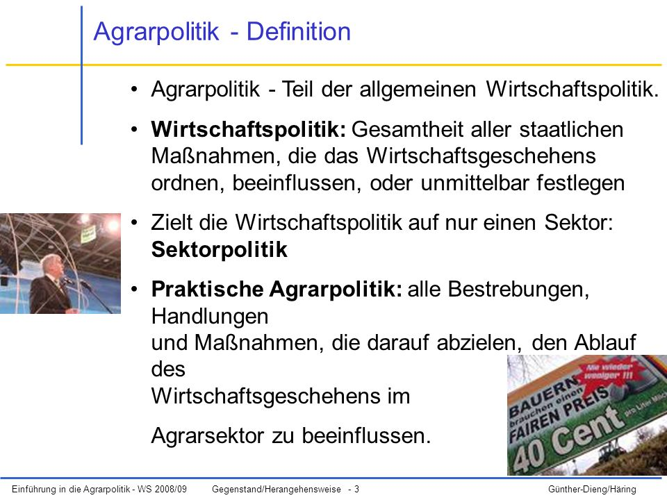Agrarpolitik - Definition
