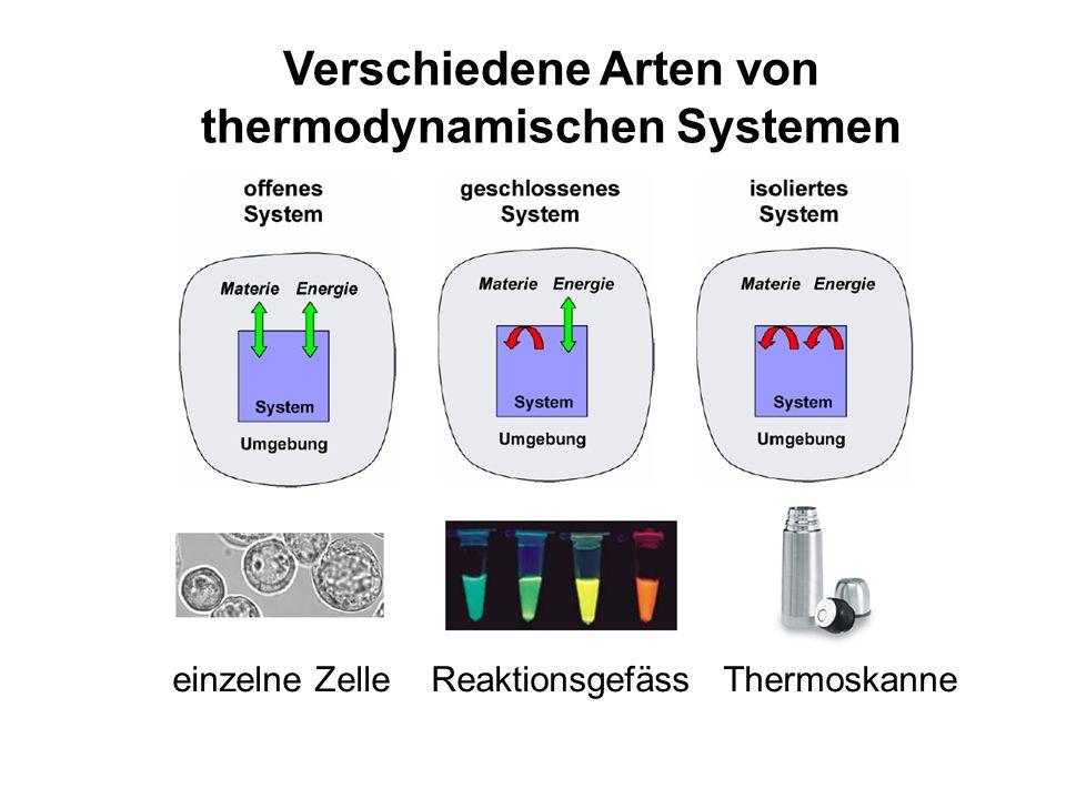 Verschiedene Arten von thermodynamischen Systemen