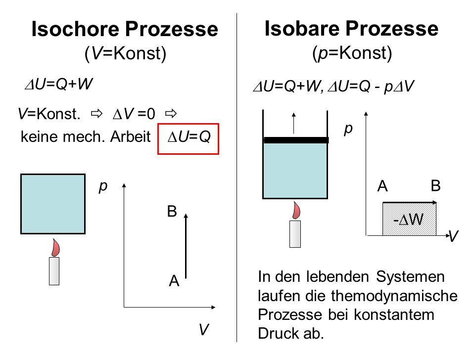 Isochore Prozesse (V=Konst)