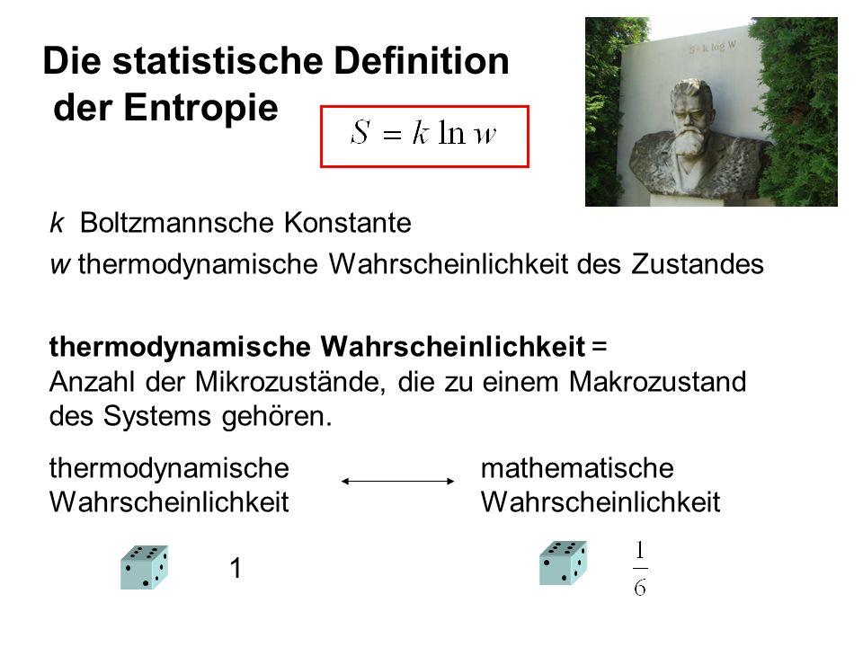 Die statistische Definition der Entropie