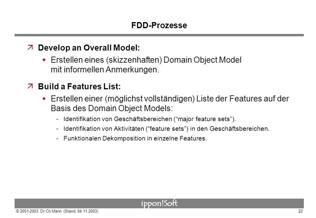Develop an Overall Model: