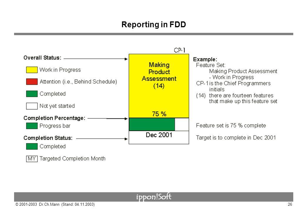 Reporting in FDD