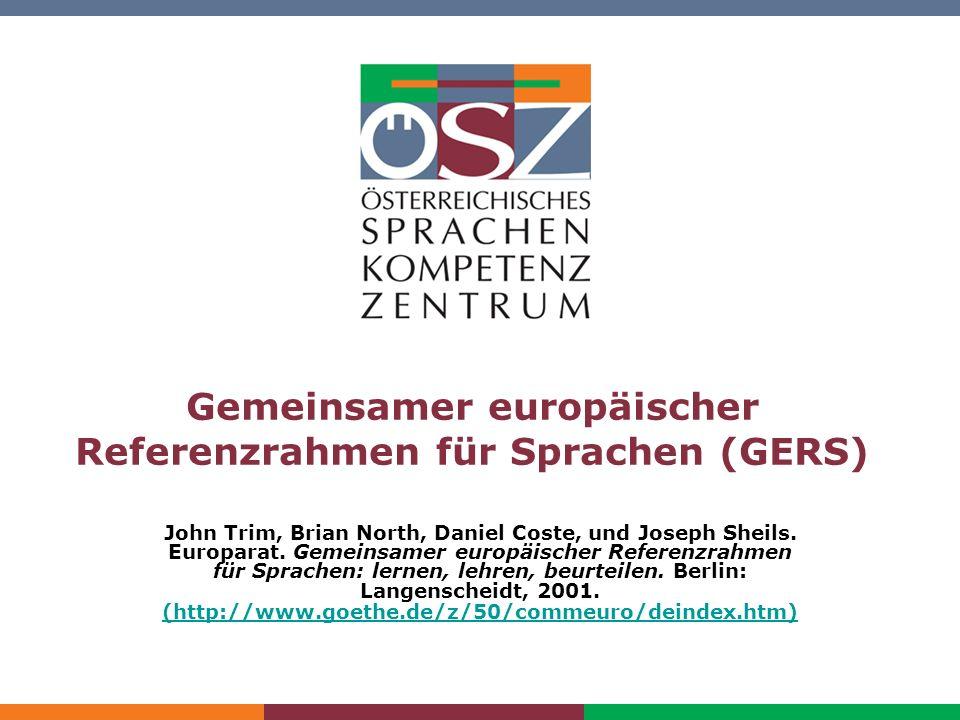 Gemeinsamer europäischer Referenzrahmen für Sprachen (GERS)