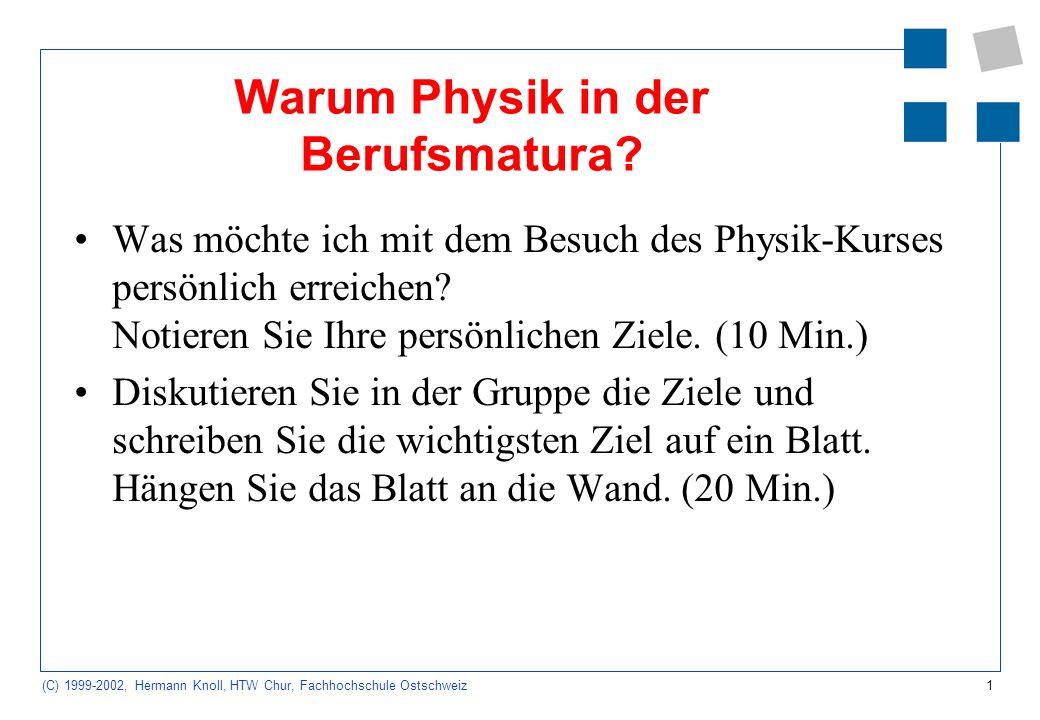 Warum Physik in der Berufsmatura