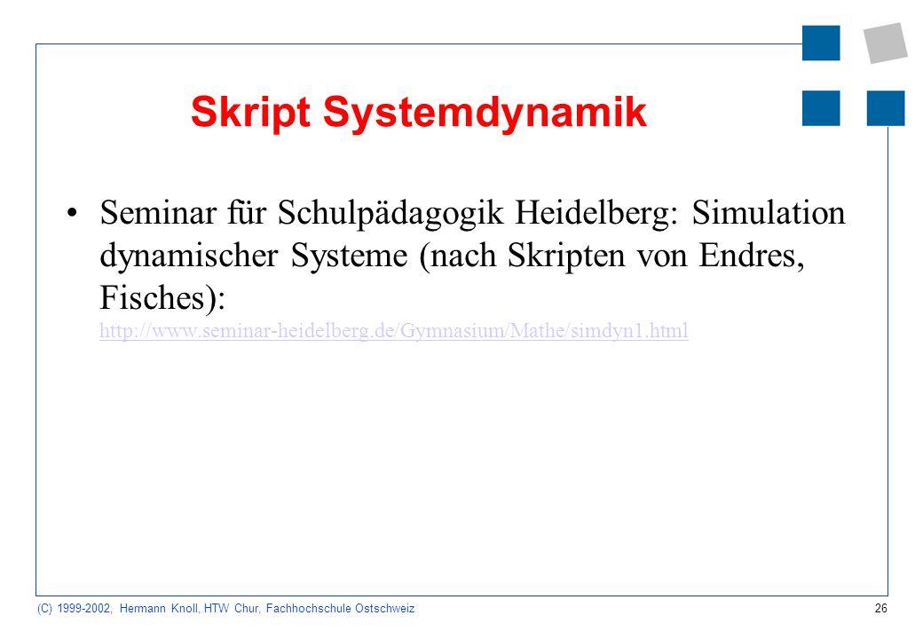 Skript Systemdynamik