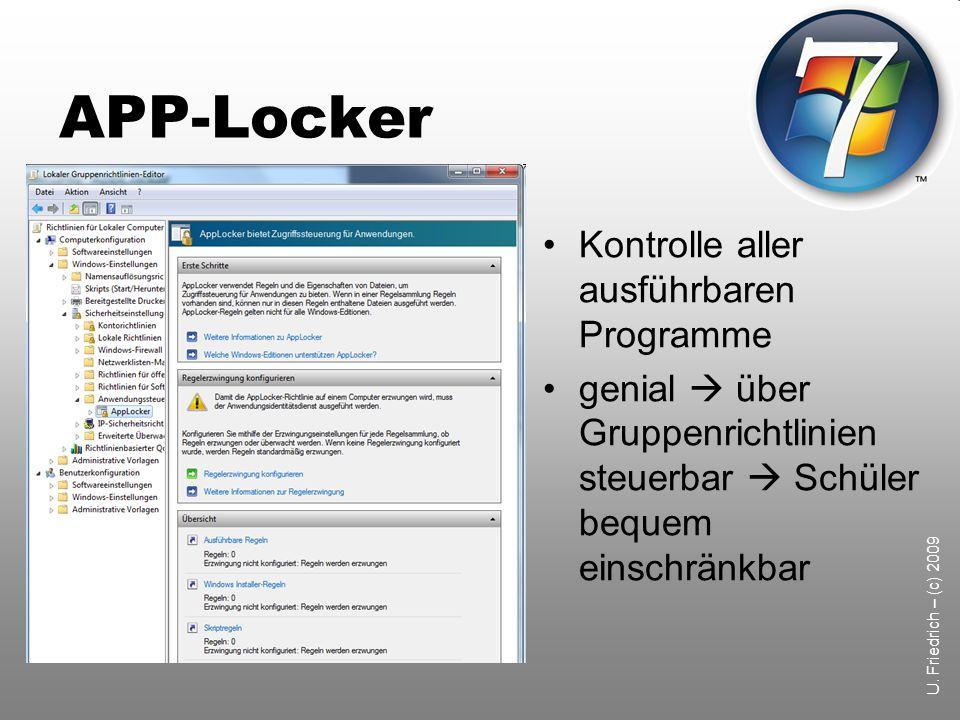 APP-Locker Kontrolle aller ausführbaren Programme