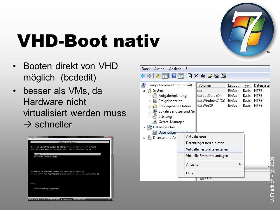 VHD-Boot nativ Booten direkt von VHD möglich (bcdedit)