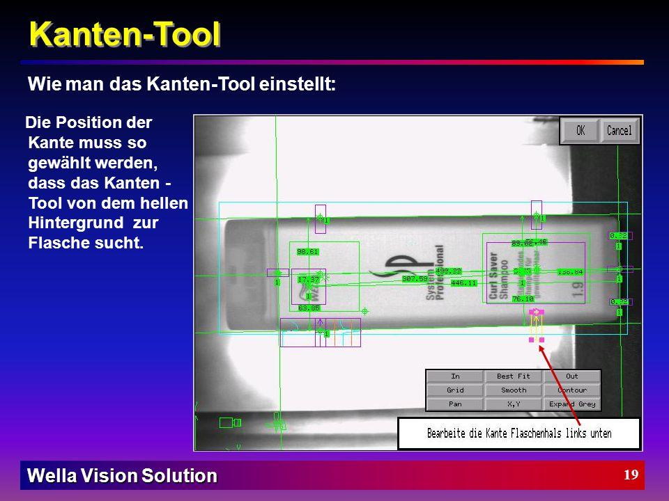 Kanten-Tool Wie man das Kanten-Tool einstellt: