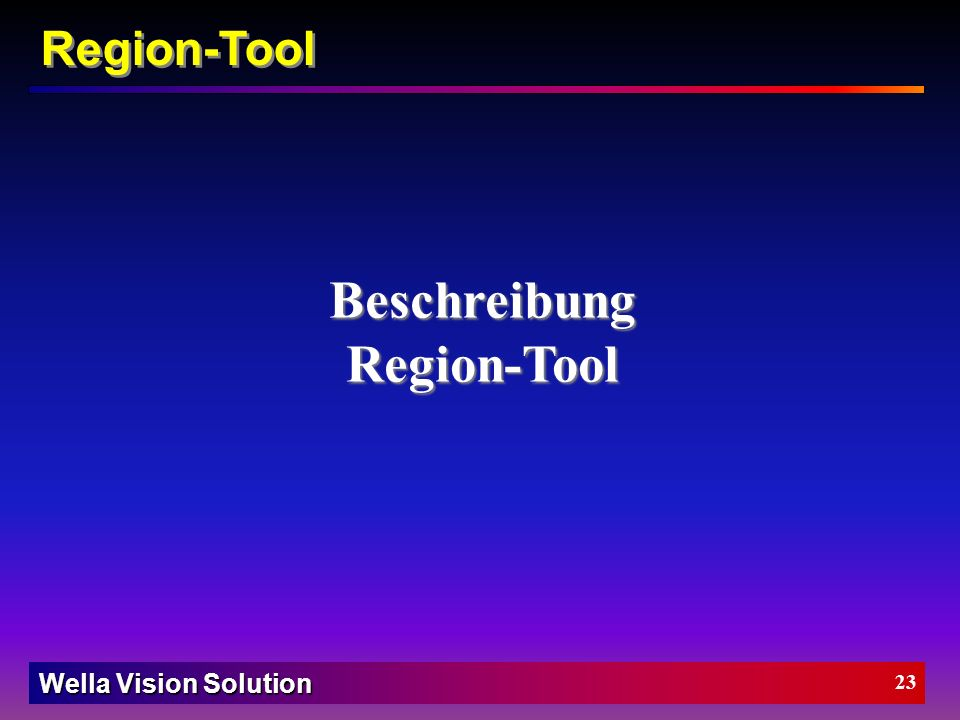 Beschreibung Region-Tool