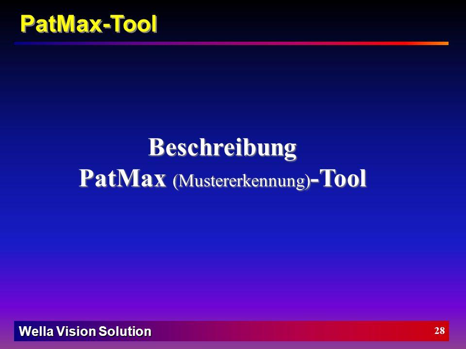 PatMax (Mustererkennung)-Tool