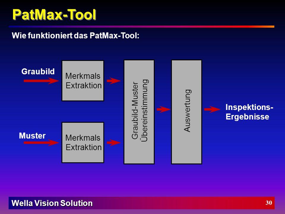 PatMax-Tool Wie funktioniert das PatMax-Tool: Graubild Merkmals