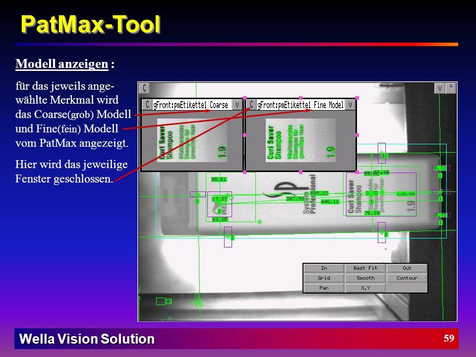 PatMax-Tool Modell anzeigen :