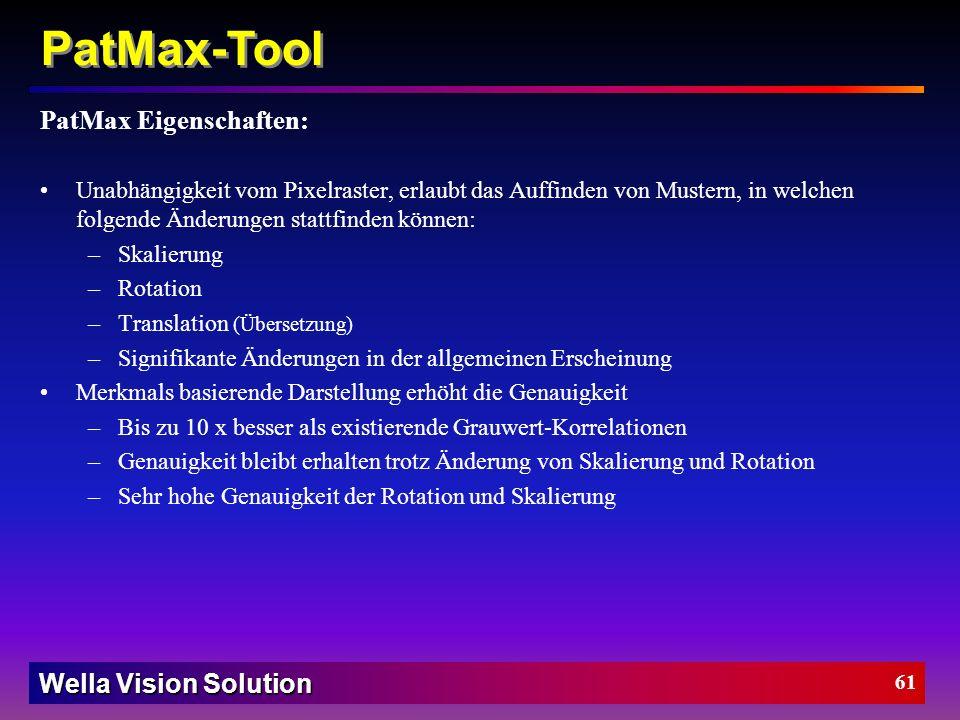 PatMax-Tool PatMax Eigenschaften: