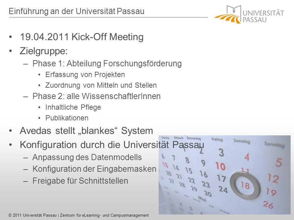 Einführung an der Universität Passau