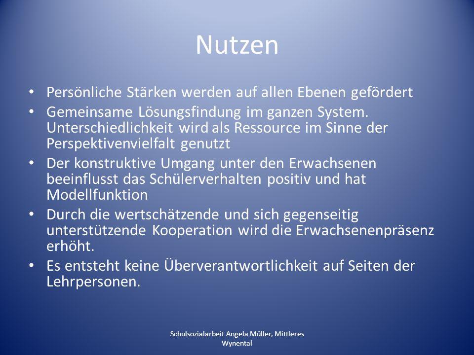 Schulsozialarbeit Angela Müller, Mittleres Wynental