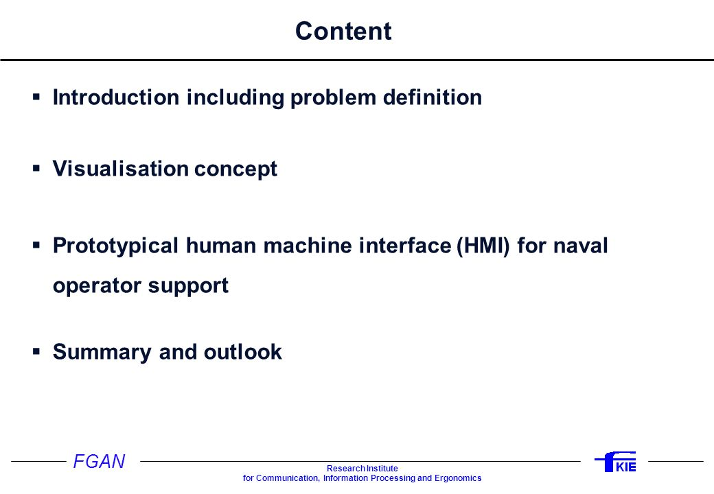 Content Introduction including problem definition