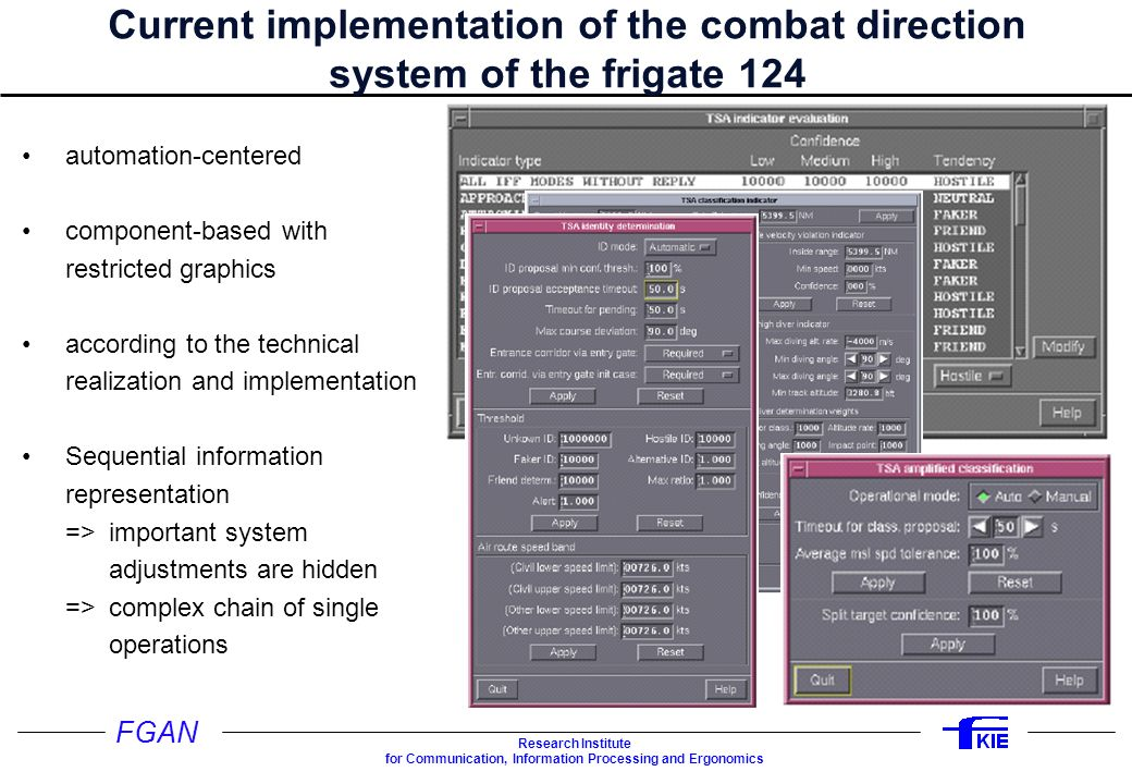 Studie DAKOS Current implementation of the combat direction system of the frigate 124.