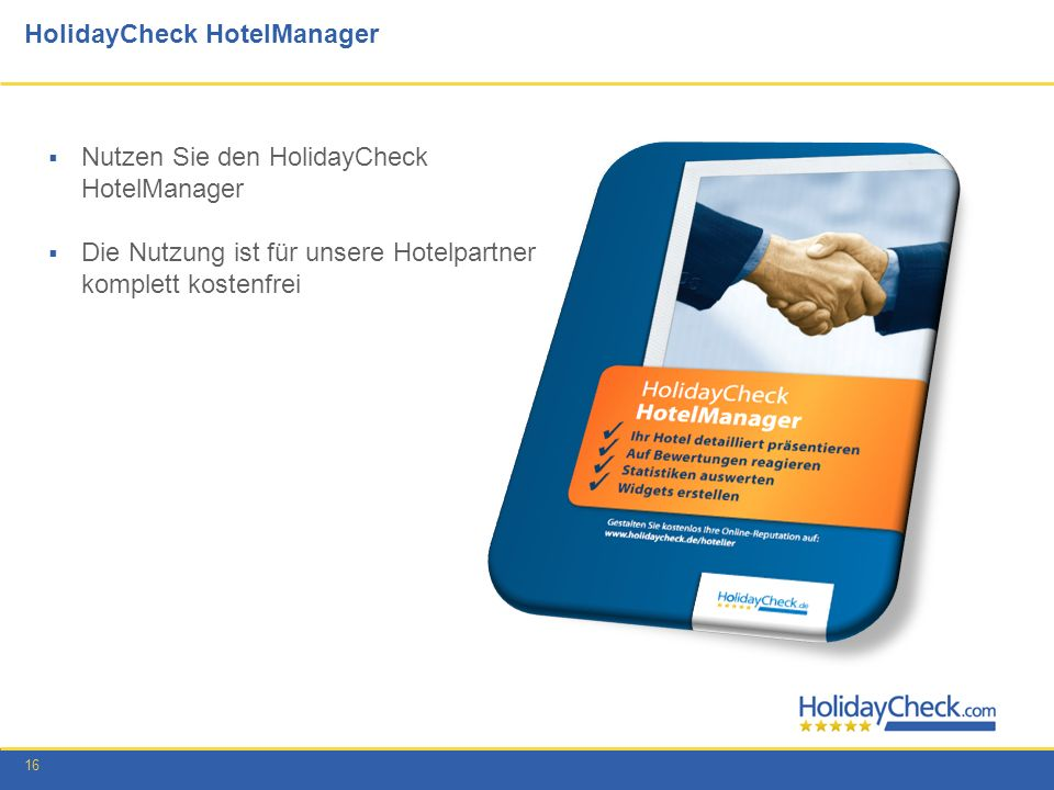 HolidayCheck HotelManager