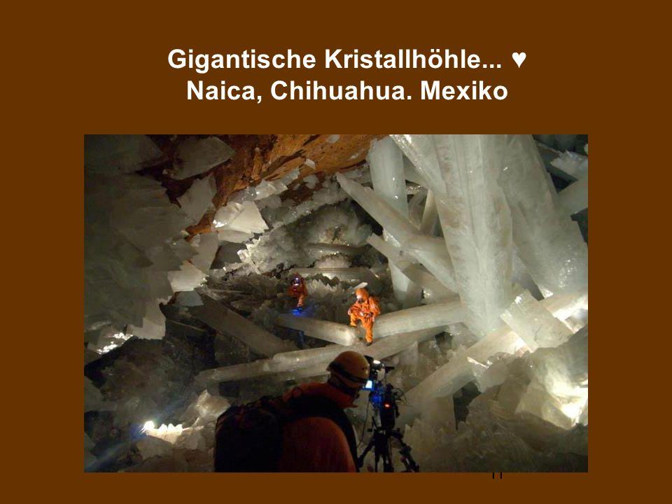 Gigantische Kristallhöhle... ♥ Naica, Chihuahua. Mexiko