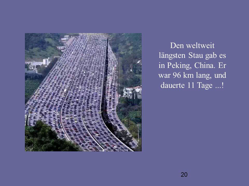 Den weltweit längsten Stau gab es in Peking, China