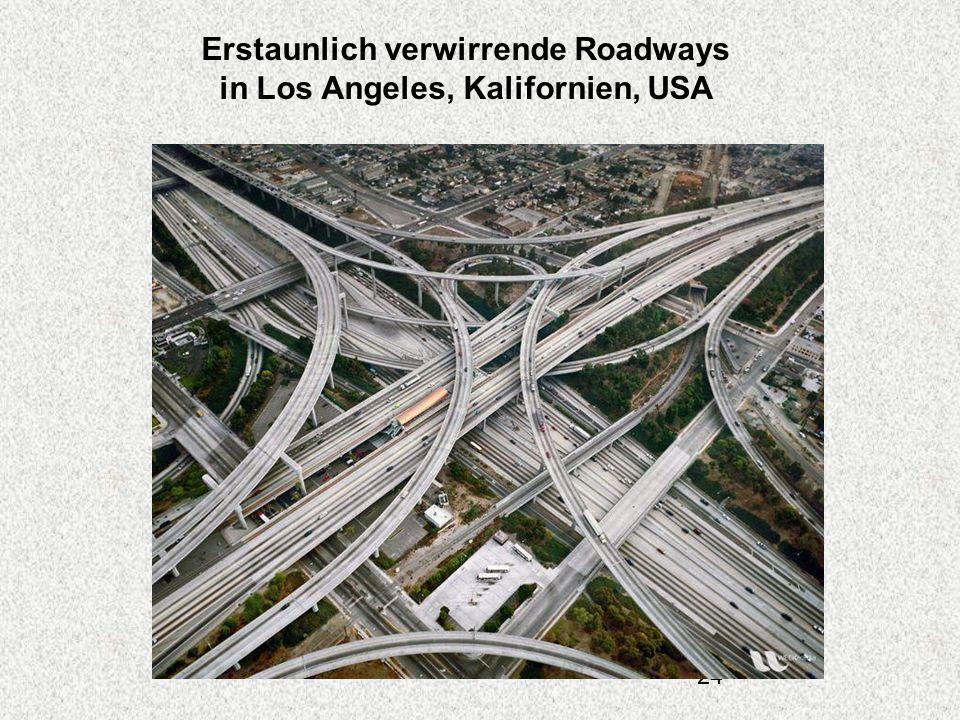 Erstaunlich verwirrende Roadways in Los Angeles, Kalifornien, USA